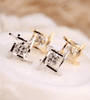 Image of ON SALE - Captured Crystals Square Earrings