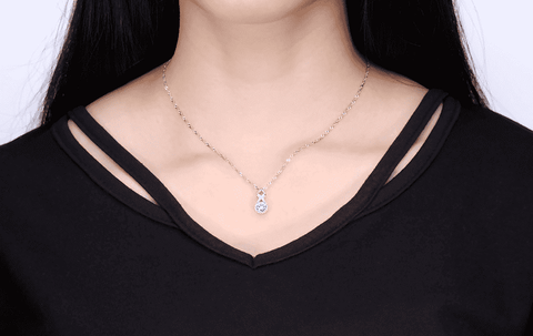 ON SALE - Sweet Embrace CZ Diamond Necklace