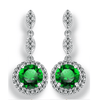 Image of Pavé Triple Drop CZ Halo Earrings