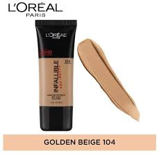 L'oreal Infallible 24h Matte Foundation (104 Golden Beige)