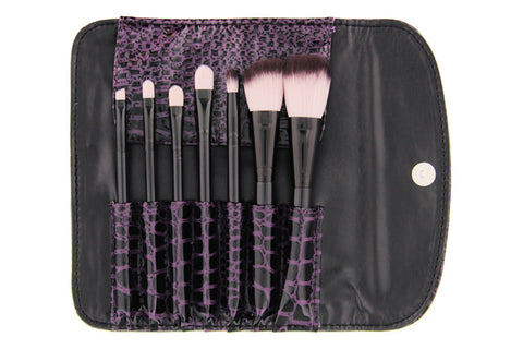 7 pc Faux Croc Brush Set