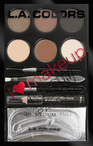 L.A. Colors I Heart Makeup Brow Palette, Medium to Dark