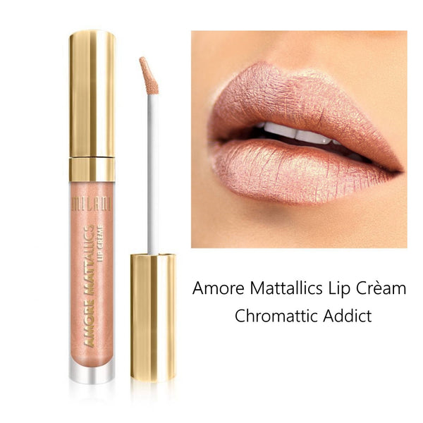 Milani Amore Matte Metallic Lip Cream 0.24 oz, Chromattic Addict