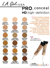 LA Girl Pro Conceal HD Concealer- Medium Bisque GC975