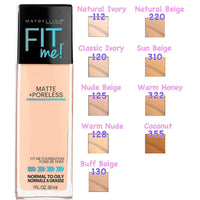Maybelline Fit Me Matte poreless Foundation - Warm Nude(128)
