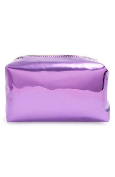 Metallic Cosmetics Bag-Purple