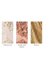 Snow Ball Gold Pigment and Glitter Kit
