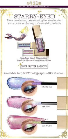 Magnificent Metals Glitter & Glow Liquid Eye Shadow Duo Chrome-Sunset Cove