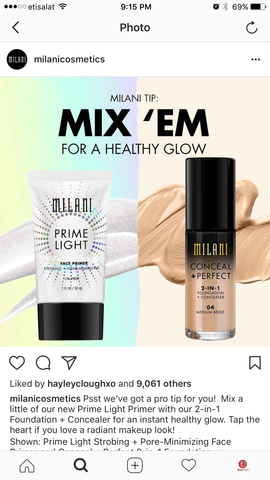 Milani Prime Light Pore Minimizer Face Primer