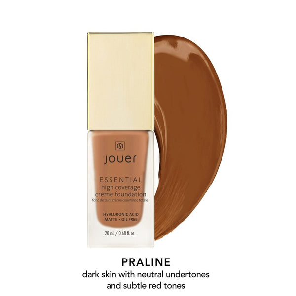 Essential High Coverage Crème Foundation- Praline (Dark skin with neutral undertones and subtle red tones)