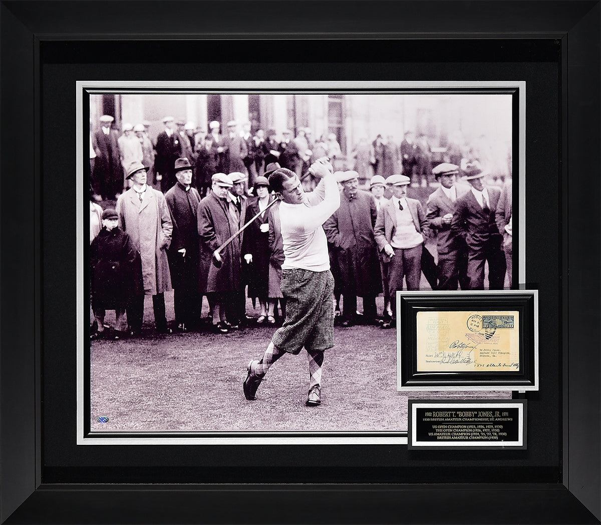 Bobby Jones Signed Inaugural Flight Card
