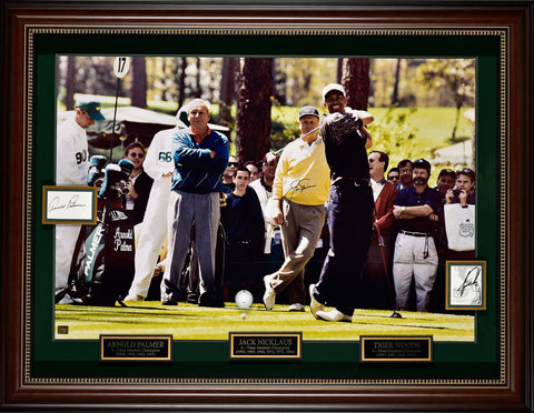 Arnold Palmer, Jack Nicklaus, Tiger Woods – Signed