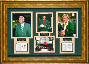 Arnold Palmer, Tiger Woods and Jack Nicklaus