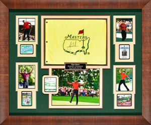 Tiger Woods – 5 time Masters Champion, Signed Flag