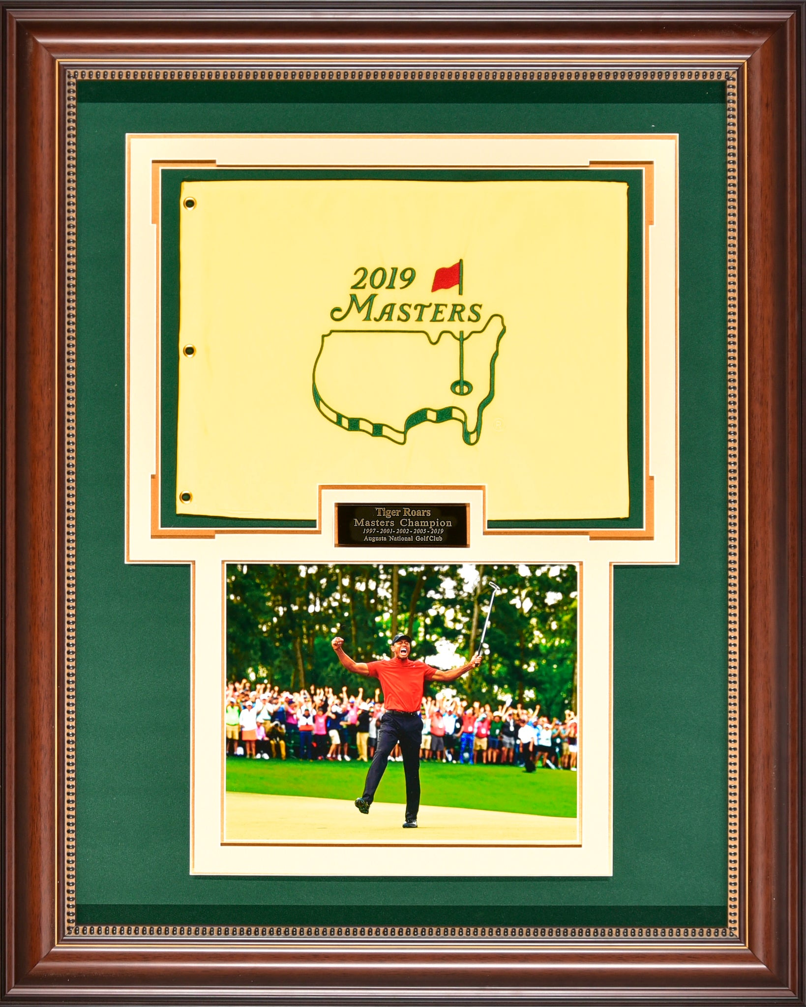 Tiger Woods – 5 Time Masters Champion Flag
