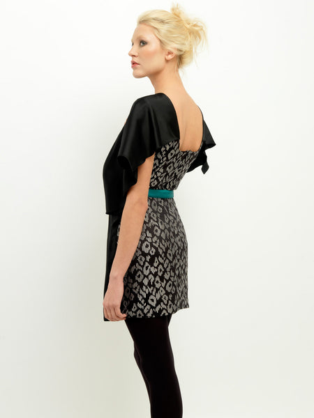 Graphic Jacquard Yin-Yang Dress