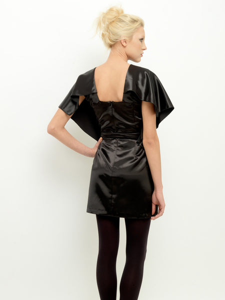 Shiny Batwing Dress