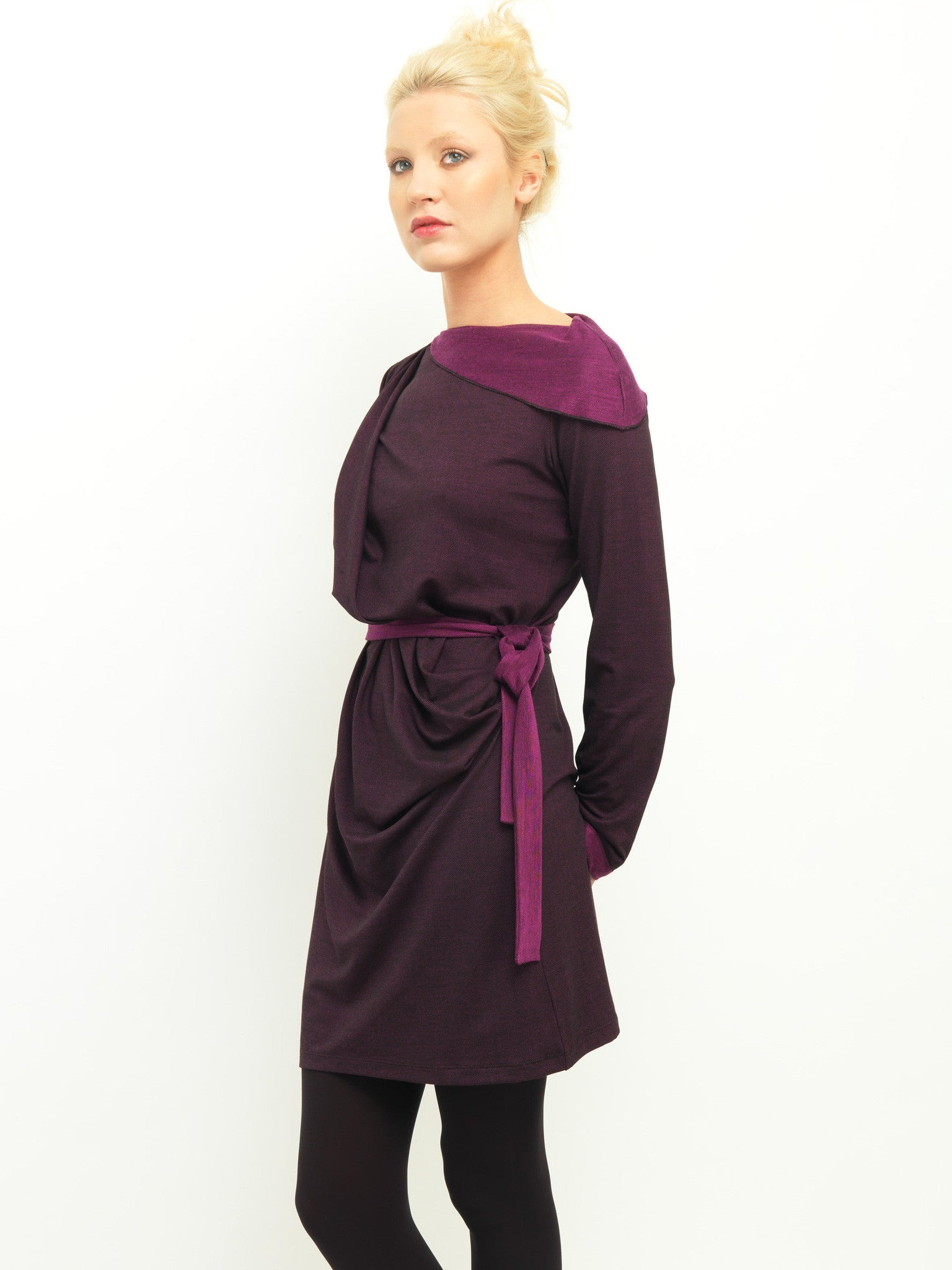 Two Tone Drape Dress