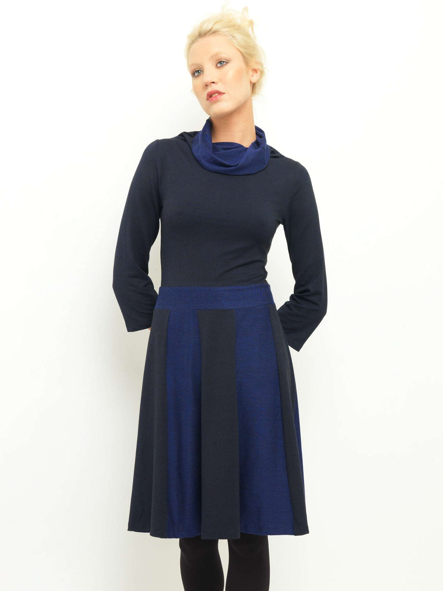 Two Tone Panelled Dress
