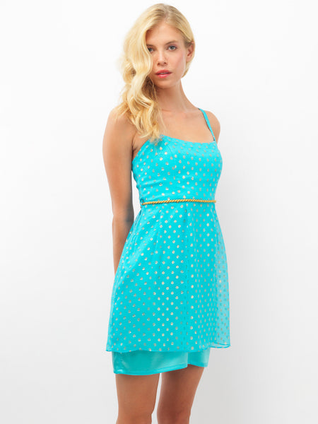 Silk Turquoise Dress