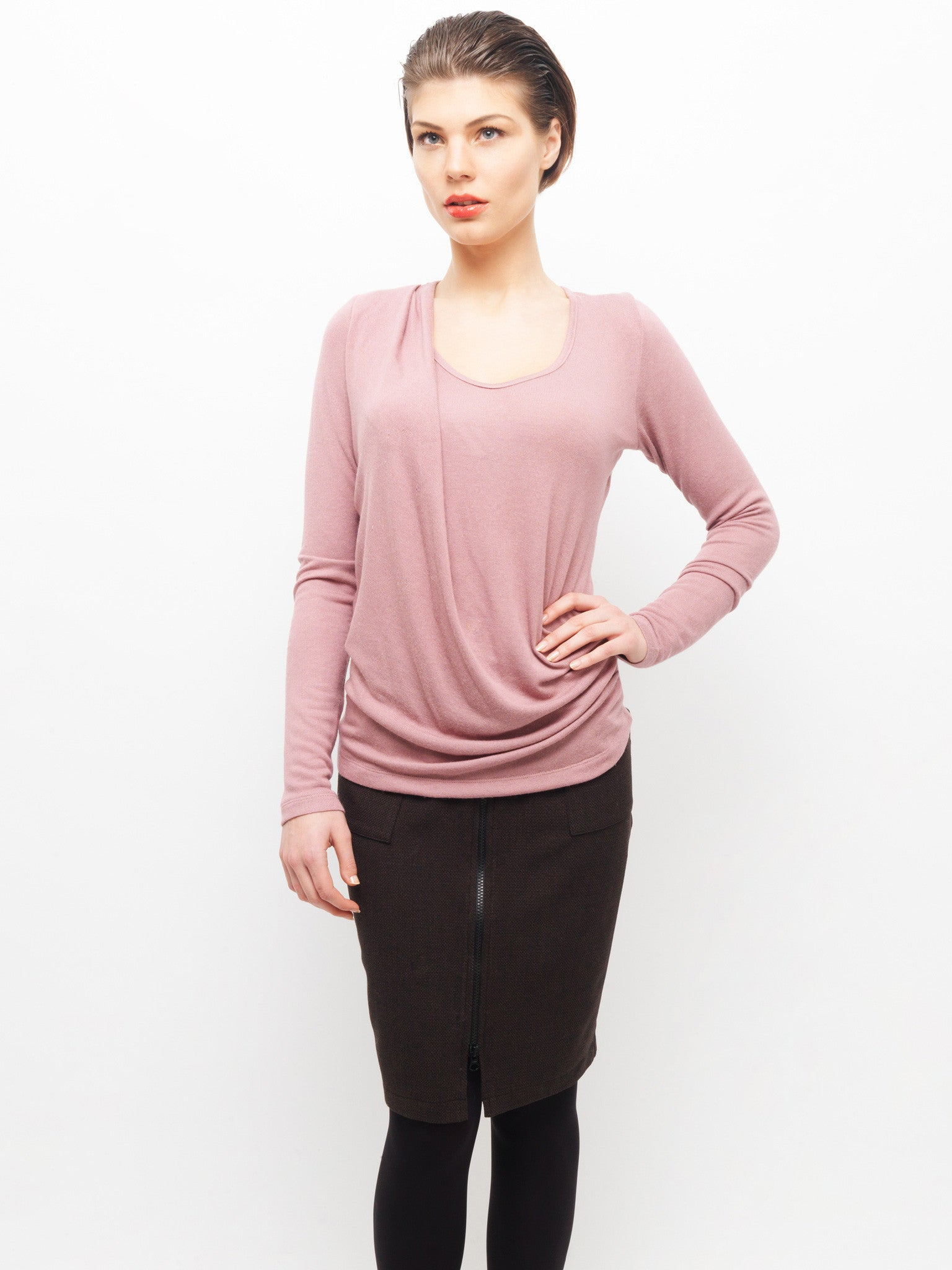 Draping Knit Top
