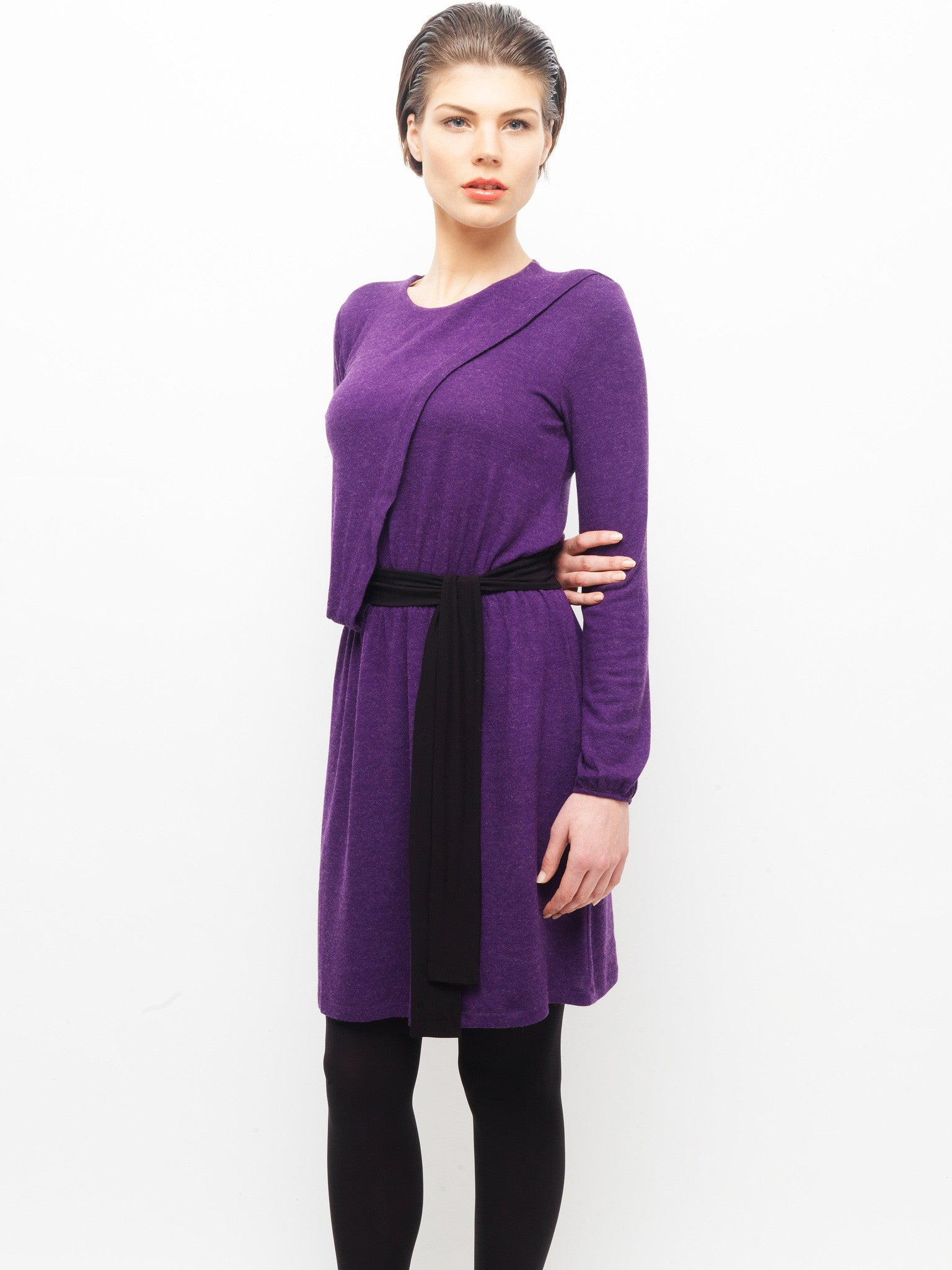 Purple Knit Dress