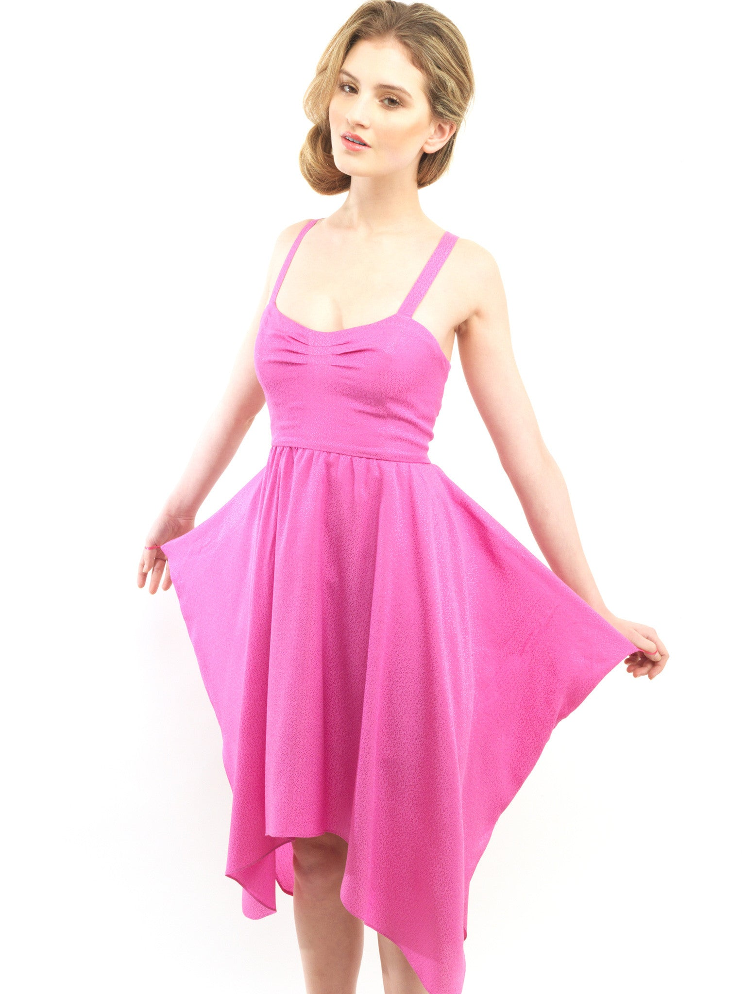 Silk Fuschia Dress