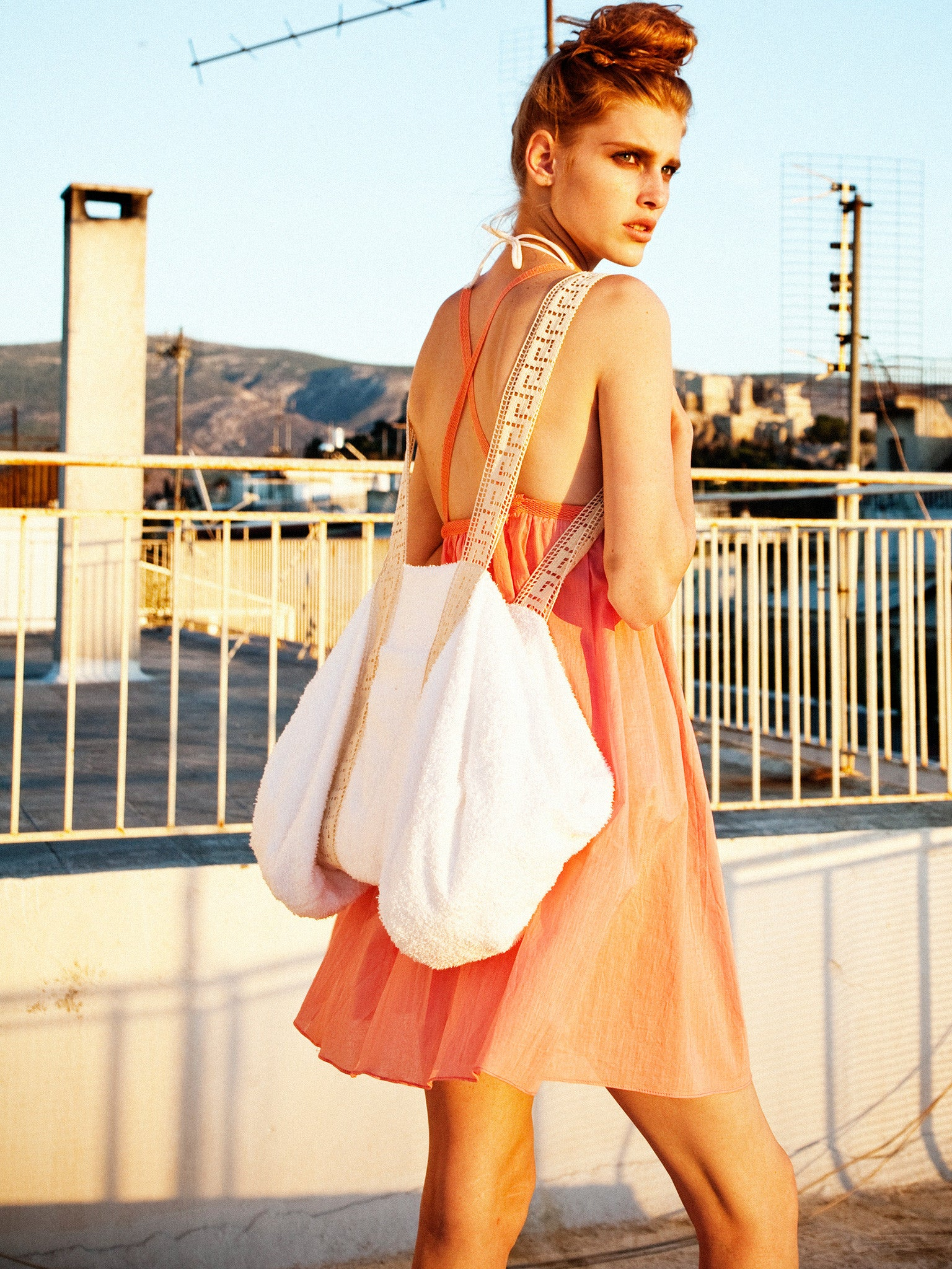 Sunset Resort Dress & Beach Bag