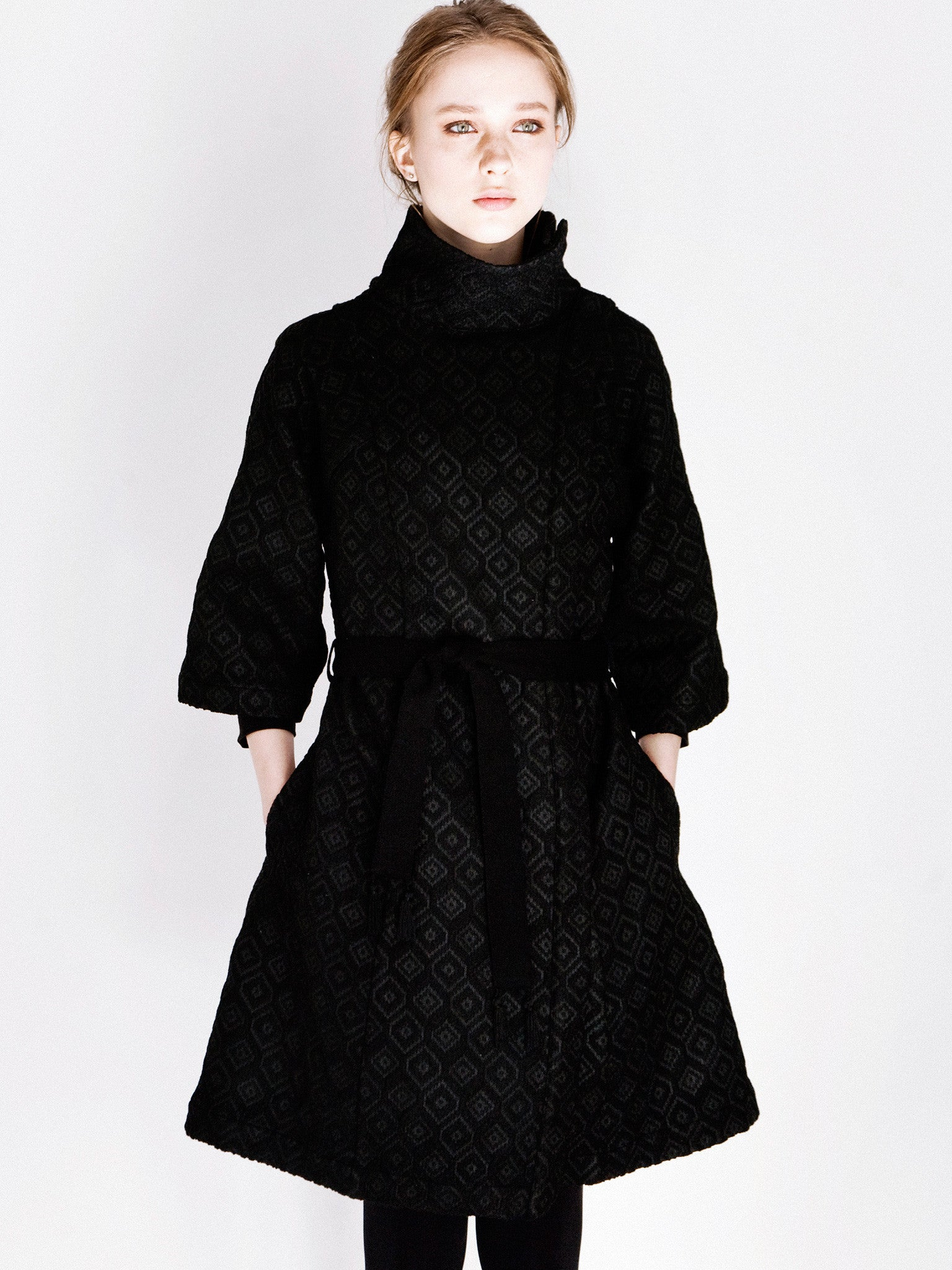 Wool Jacquard Shielding Coat