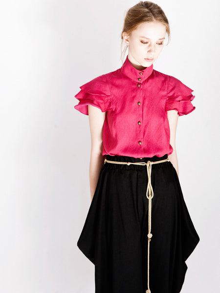Crimson Frill Shirt & First Love Pant