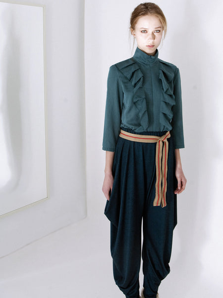 Jade Soft Frill Blouse & Pants