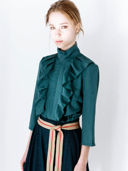 Jade Soft Frill Blouse