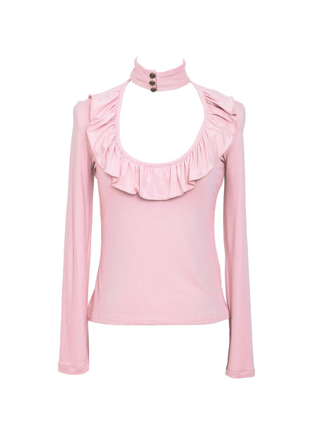 Soft Peach Skin Jersey Top