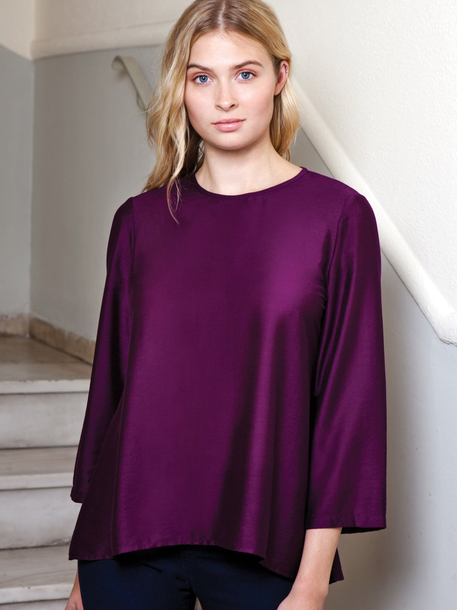 Always A Girl At Heart Violet Blouse