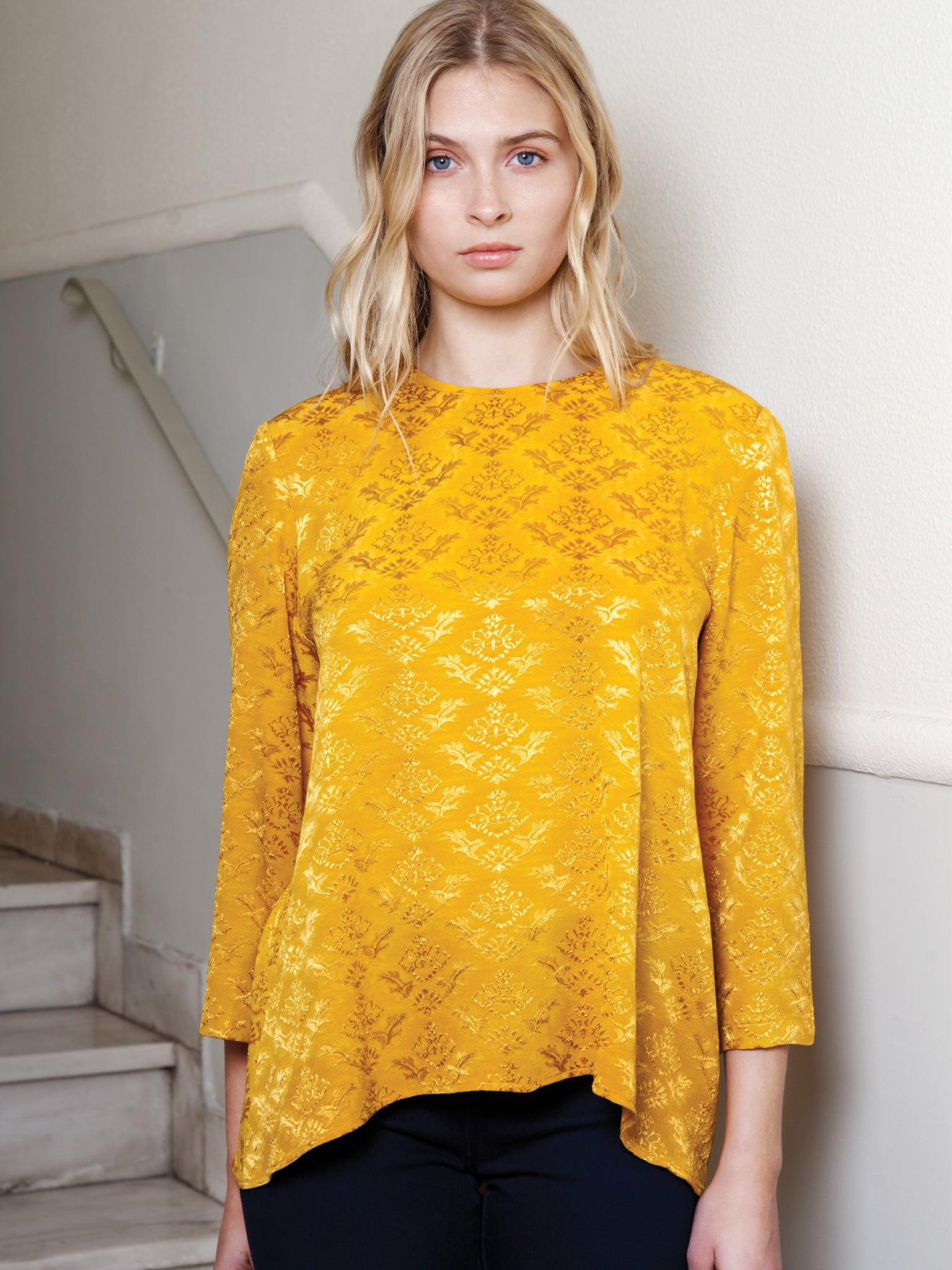 Always A Girl At Heart Mustard Blouse