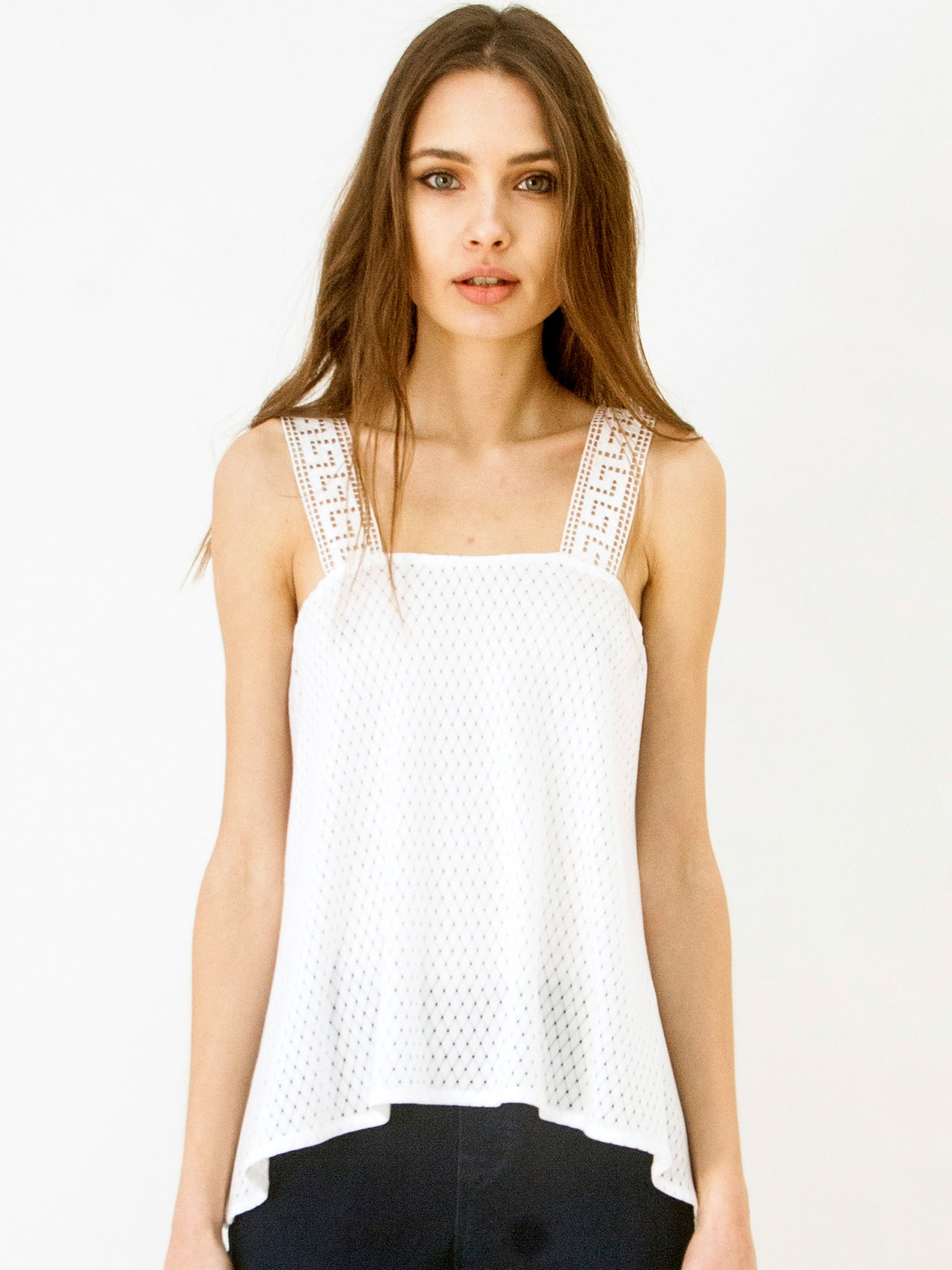 Grecian Island Top White