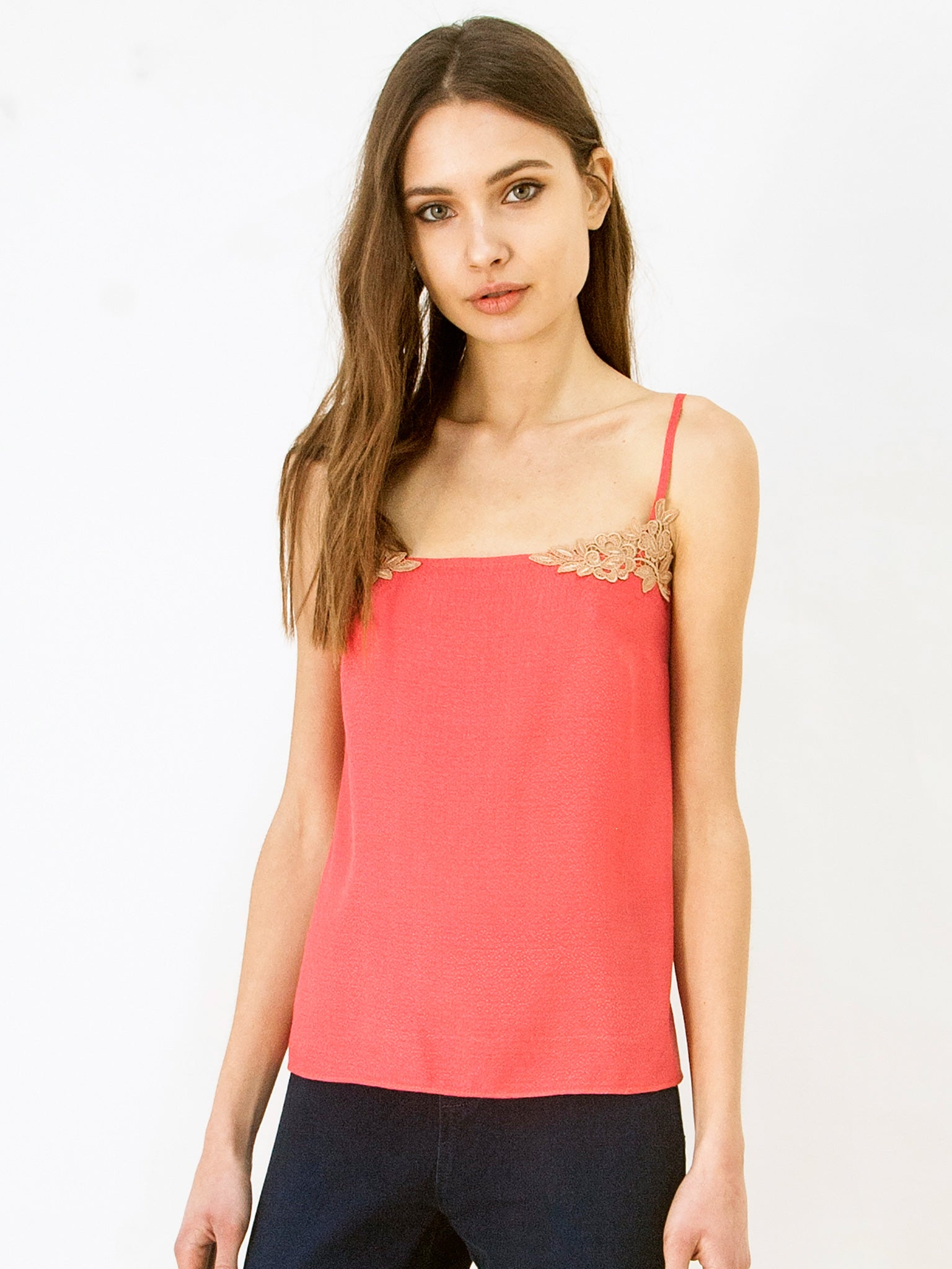 Watermelon Silk Blend Camisole