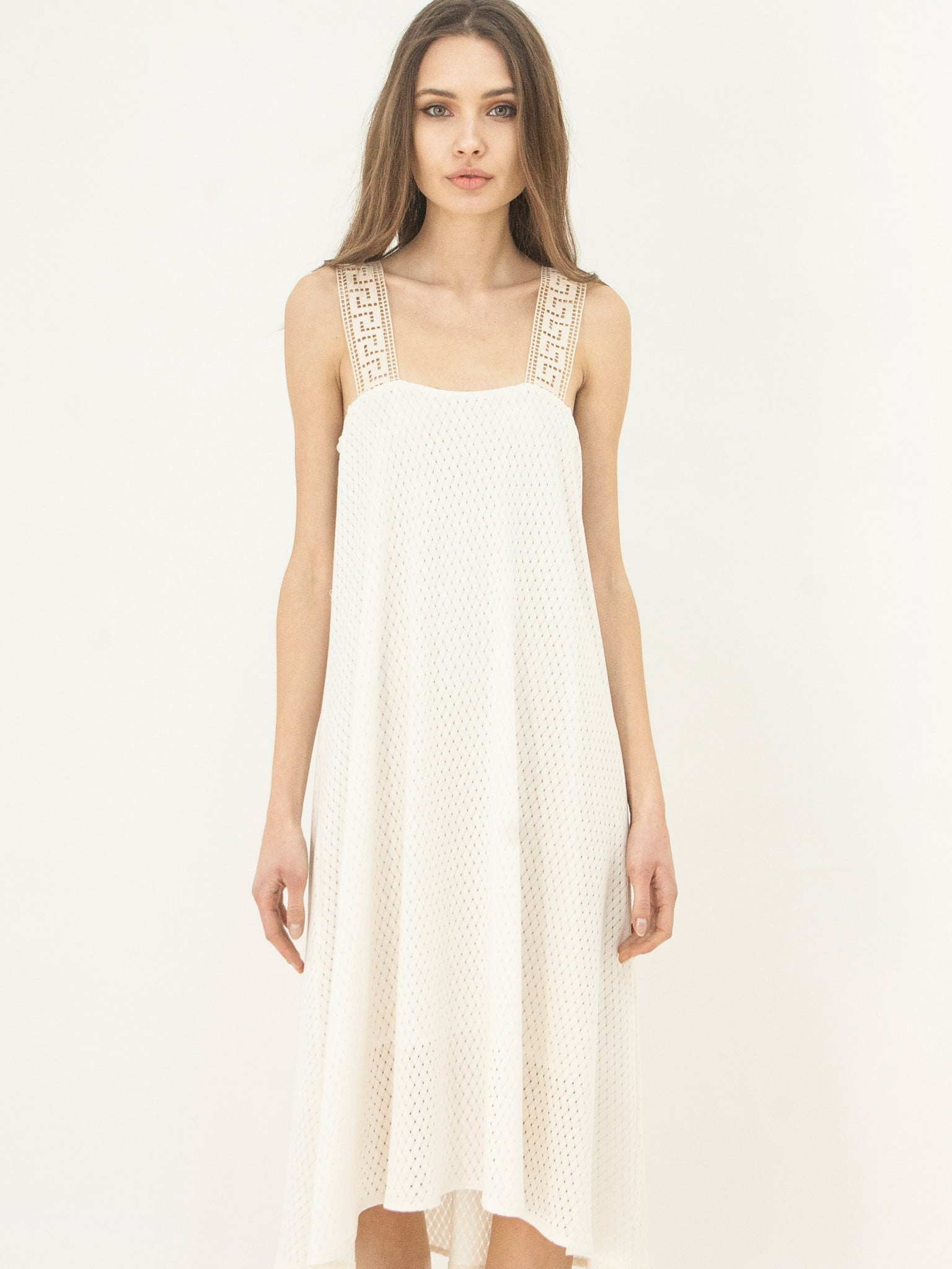 Grecian Island Dress Ecru