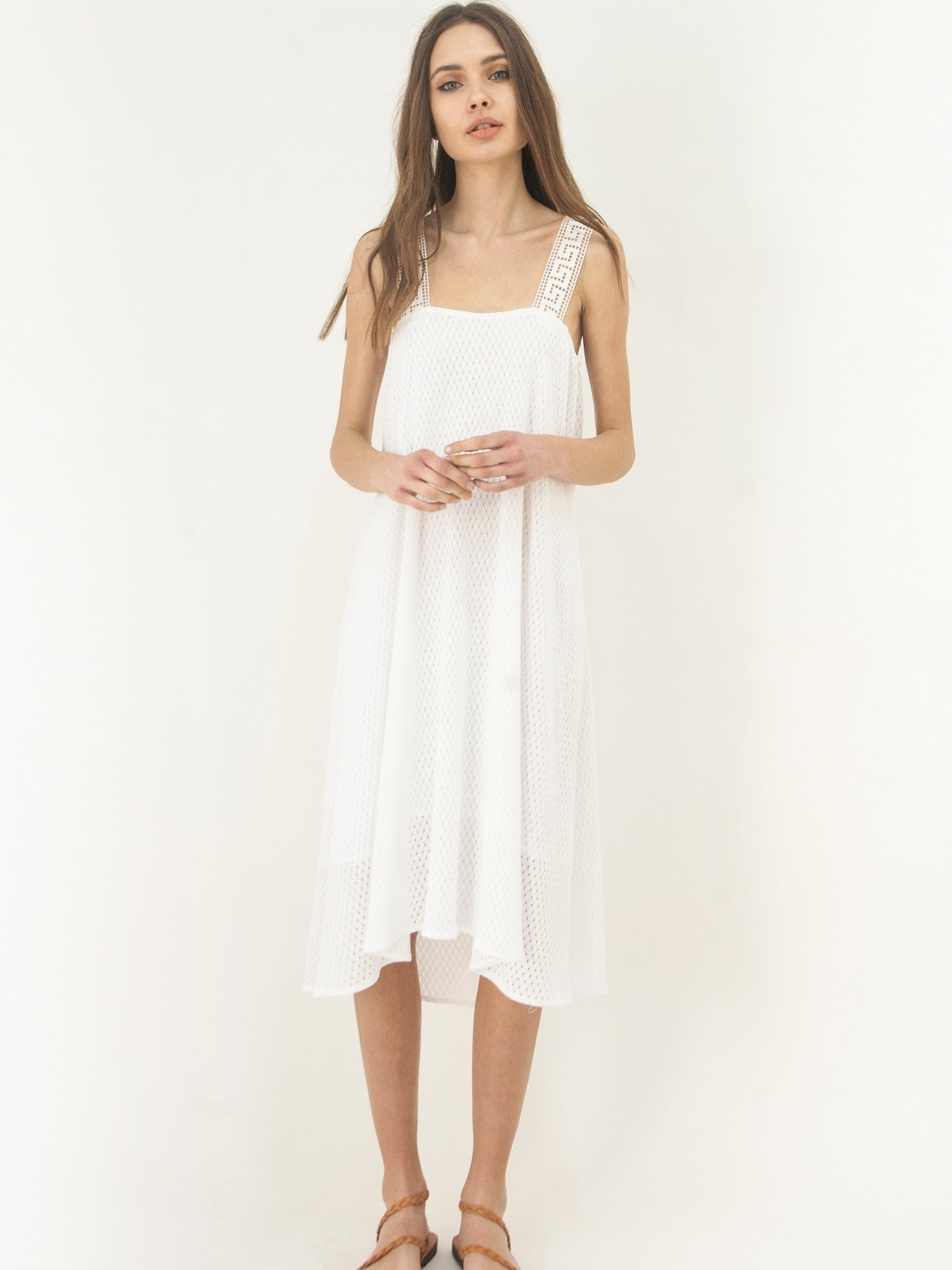 Grecian Island Dress White