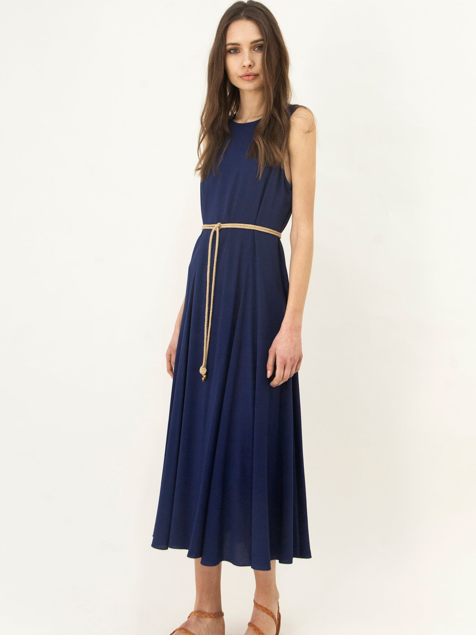 Panelled All Day Dress Royal Blue