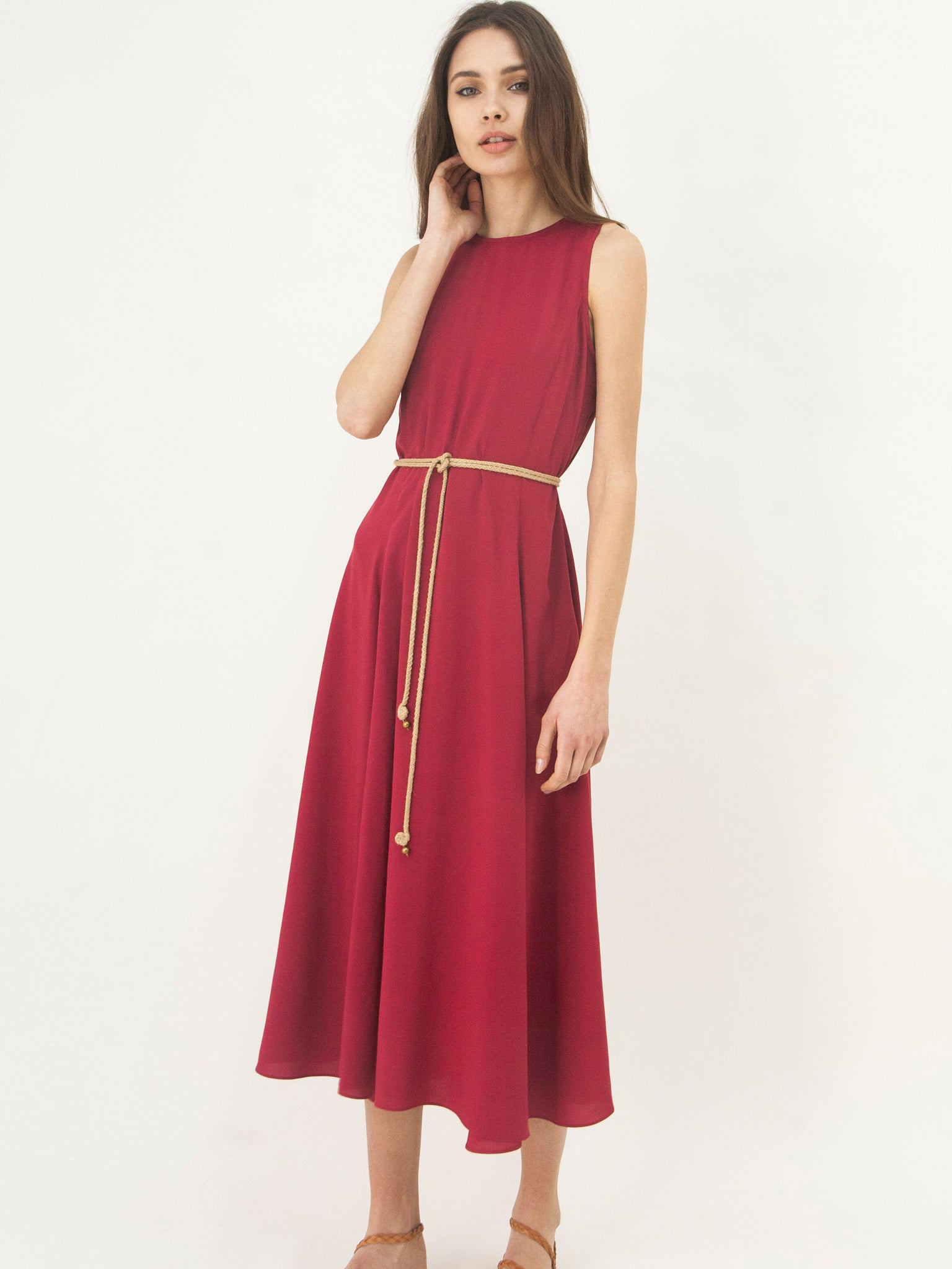 Panelled All Day Dress Crimson