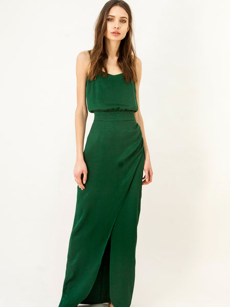 Green Long Evening Dress