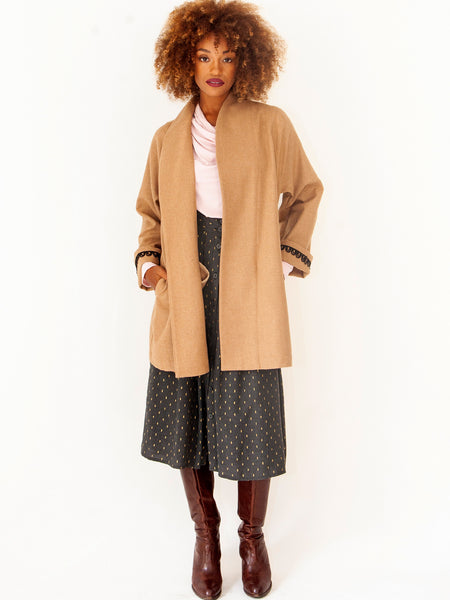 Winter Short Camel Coat