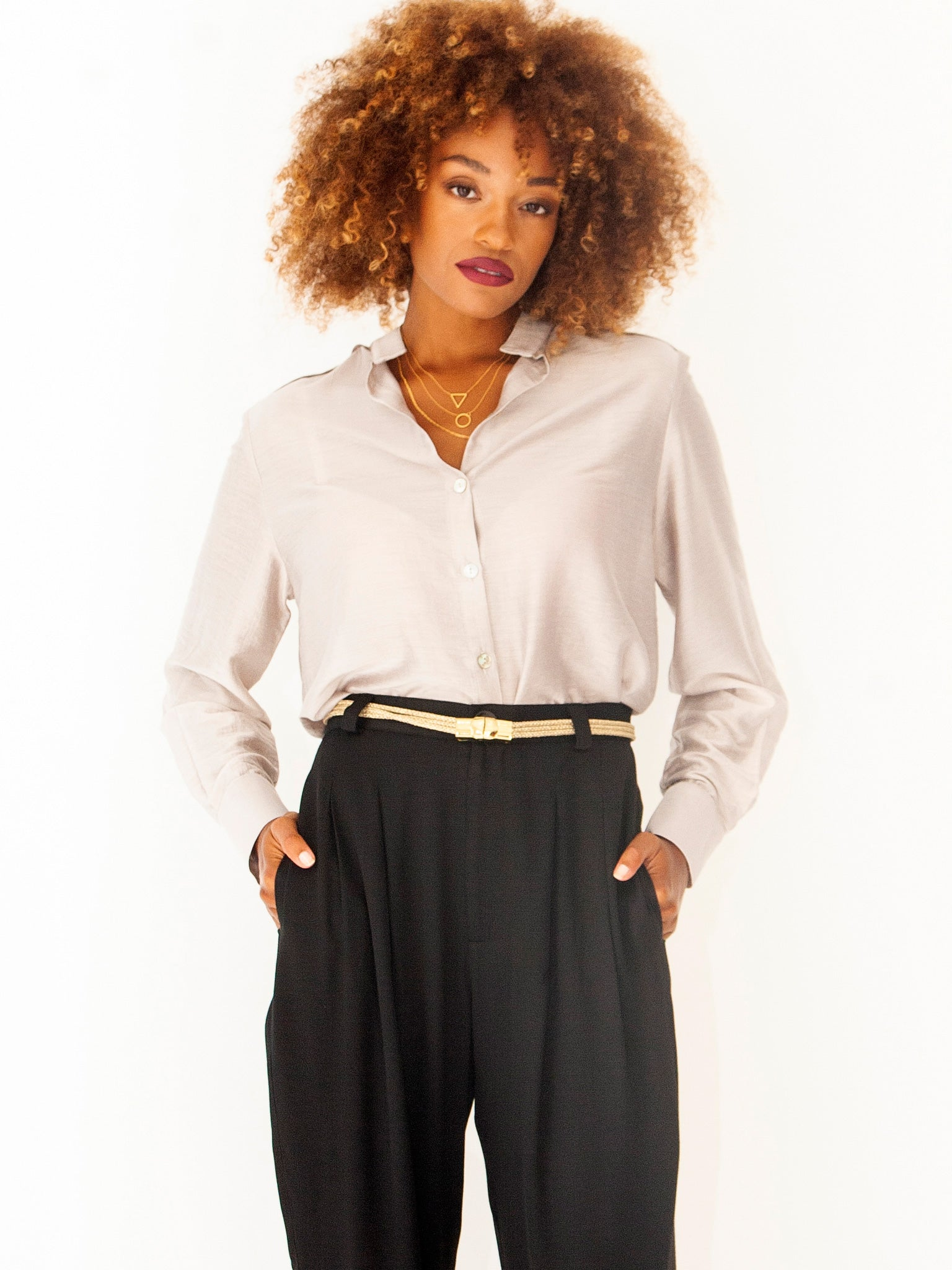 Marble Elegant Evening Shirt