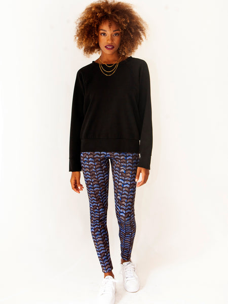 Blue Scuba Leggings