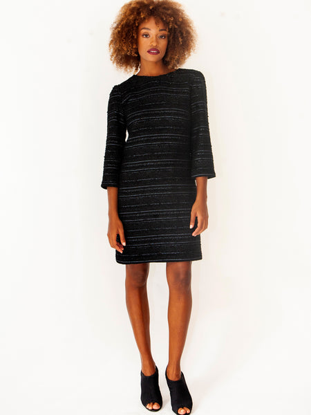 Wool Lurex Cocktail Dress