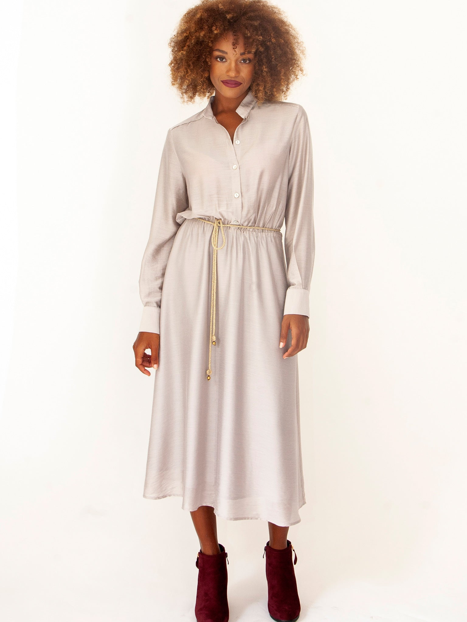 Marble Evening Shirt Dress