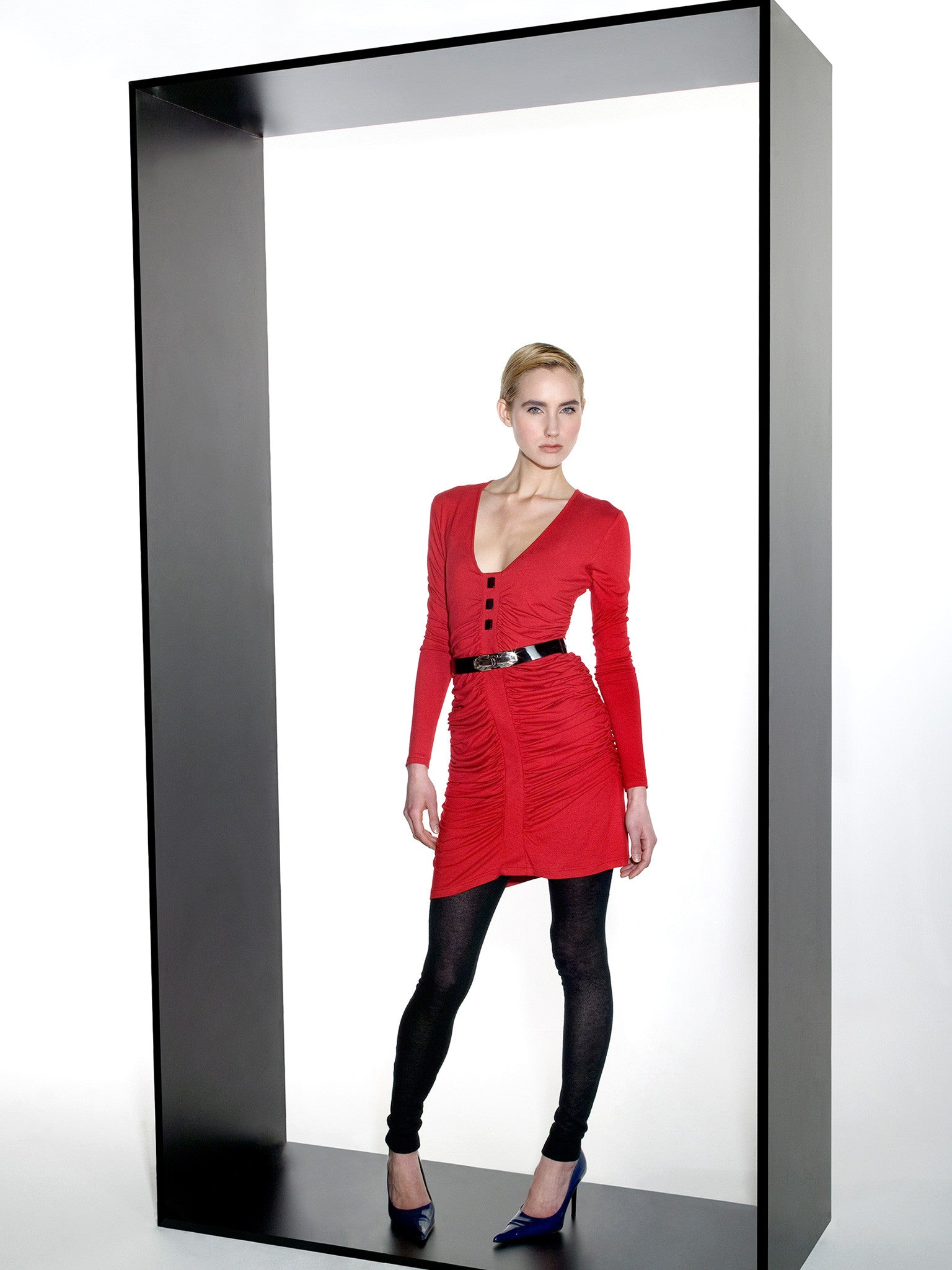 Red Jersey Chic Dress