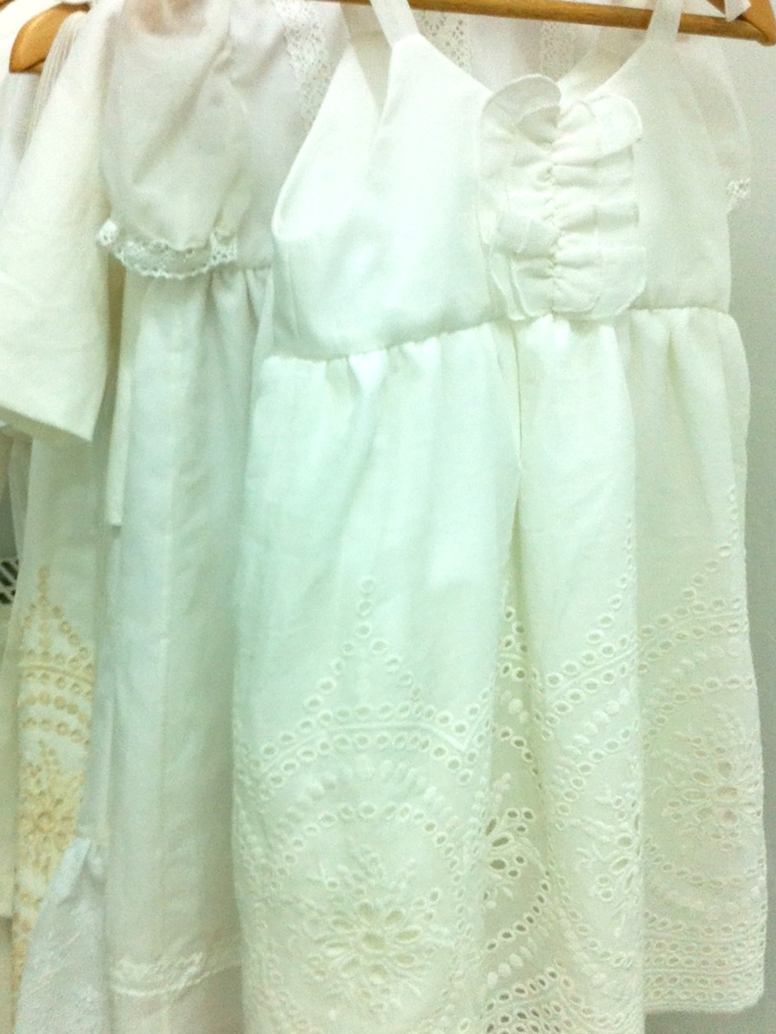 White Cotton Broderie Anglais