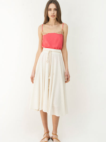 Grecian Dare To Flare Skirt Ecru